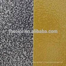 Revêtement par pulvérisation de peinture en poudre à texture martelée métallisée