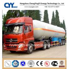 China 2015 LNG Lox Tank Car Semi Trailer with ASME GB