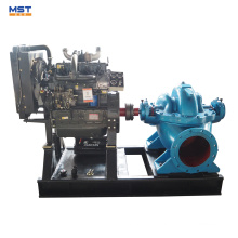 bomba de água de sucção dupla acionada por motor a diesel