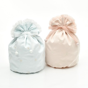 Custom Stylish Satin Packaging Bag organza ribbon