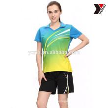 Unisex sportswear maillot de tennis rapide sec badminton porter jersey maillot de volleyball