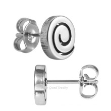 Mirror Polished 316L Stainless Steel Spiral Design Wholesale Ear Piercing Studs