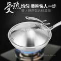 Frigideira de fritura de aço inoxidável 30cm best-seller