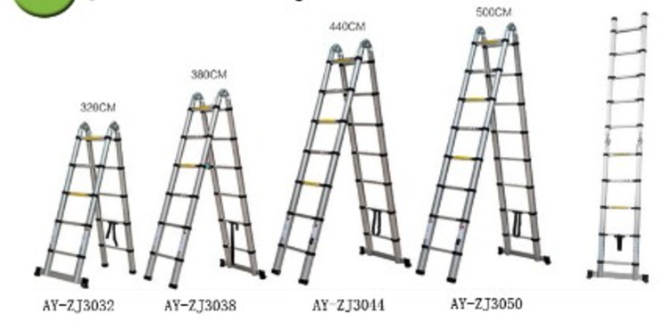 Double side aluminum telescopic ladder (2)