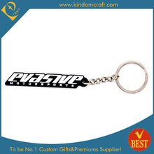 Moda Atacado Palavras Personalizadas PVC Keychain