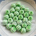 2014 Green & White Zebra Latest Design 8MM 500Pcs Wholesale Shamballa Round Pandora  African Wedding Jewelry Beads