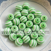 2014 10MM 500Pcs Green & White Zebra Latest Design Shamballa Round Pandora Wholesale African Wedding Jewelry Beads