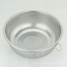 mini round stainless steel vegetable rice fruit mesh strainer colanders basket