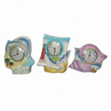 Ceramic Desk Clocks with Various Colours and Designs, Customized Designs Available