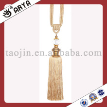 Beige Curtain Tassel Trims Tassel with Crystal