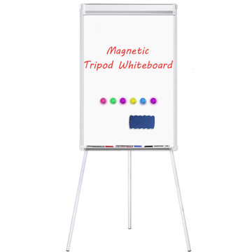 Flipchart Easel Whiteboard with Paper Clamp and Hooks