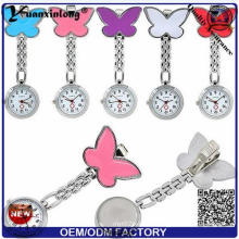 Yxl-958 Wholesale Nurse Watch Four Leaf Metal Medical Watch Cute Candy Color Watches