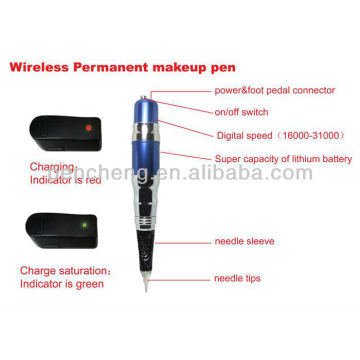 Sem fio, maquiagem permanente, blue-pen & cheap makeup tattoo machine set