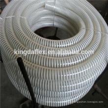 3/4 '' -14 '' Sprial Helix Ondulado Mangueira de Sucção PVC Transparente / PVC Reforçado Mangueira De Entrega De Vácuo Para Bomba De Água
