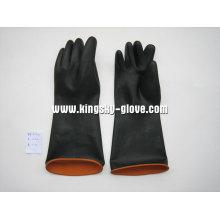 Gant industriel noir en latex résistant-5601