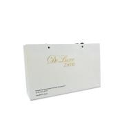 White gold foil garment paper bag