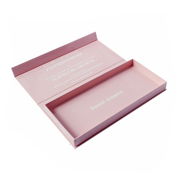 Pink Cardboard Book Shape Rigid Gift Box