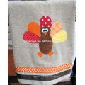 Thanksgiving cartton turkey hand towel 100% cotton
