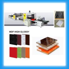 De alto brillo de PVC & MDF máquina de laminación / PUR Hot Melt pegamento adhesivo Laminating Machine
