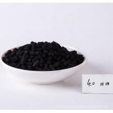 Carbón activado de la pelotilla de carbón impregnada hidróxido de potasio para el retiro H2S