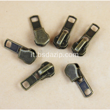 Slider in metallo di ottone come slider Ykk Zipper