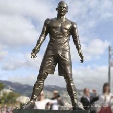 escultura de la decoración Ronaldo estatuilla de tamaño real estatuas de bronce jardín de la figura