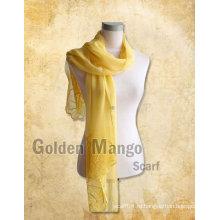 Модная длинная шелковая шаль