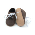Newness Design Air Hole Leather Baby Oxfords