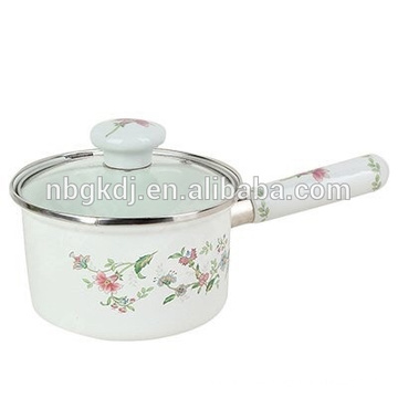 cute single handle pot &wooden handle