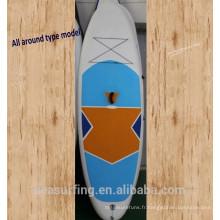 2017 tout autour bleu et blanc large stable modèle PVC gonflable paddle board