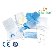 Paquete de parto estéril desechables médicos