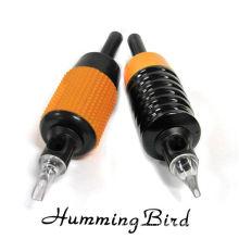 Poignée d'oiseaux de bourdonnement Poignée plate en silicone jetable avec tube en plastique