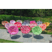 Round moon shape folding chair /Soft metal legs folding chair