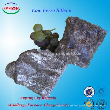 Producto de ferrosilicio de calidad / hierro de silicio bajo / silicona siliconada ampliamente utilizado para la industria siderúrgica