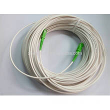 SC/APC ivory white fiber optic patch cord patch cable ,ftth drop cable 60M with best price