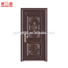 Diseño de puerta de entrada de acero de madera de color estilo de Europa