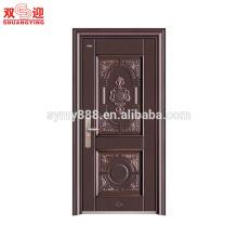 Европа стиль деревянный цвет стальные входные двери дизайн
