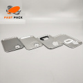 Square Metal Bucket Lid With Plastic Handle/Hole