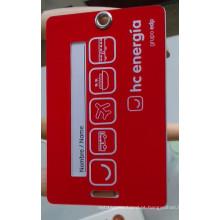 2 peças em um conjunto de linhas aéreas Hang Tag Card
