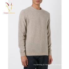 Pulôver de suéter de cashmere novo Design dos homens com Intarsia Designs