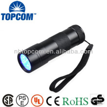 365nm wave band mini uv 12 led flashlight