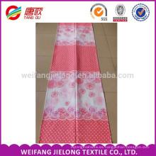 Las rosas rosadas de impresión de tela de cama de algodón 100% para la venta