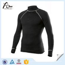Hombres de calidad superior esquí térmica ropa interior camisetas