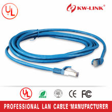 Blaue Farbe 7 * 0.2mm Bare Kupfer FTP Cat5e Patch Lead 1M