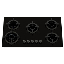 5 Burner Tempered Glass Gas Stove