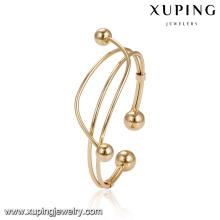 51930 Gros perles élégantes femmes bracelet design spécial 18 carats plaqué or bracelet