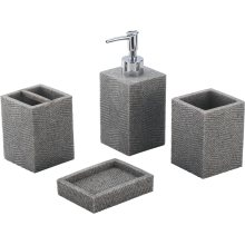 Modern Home Decoration Polyresin Design Bathroom Set