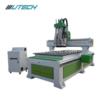 multihead cnc wood cutting machine for furniture industry