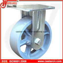 4 Inch to 8 Inch Cast Iron Fixed/Rigid Casters