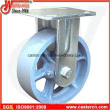 4 polegadas a 8 polegadas de ferro fundido fixo / Rigid rodízios